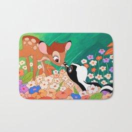 Bambi and Flower Bath Mat
