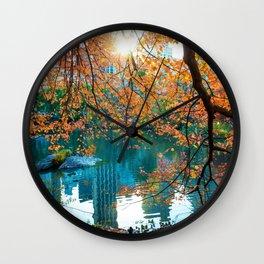 Magical Fall Wall Clock