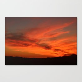 Red and Orange October Sunset Canvas Print