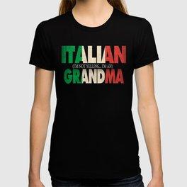 Funny Italian Grandma Gift Not Yelling Italian Flag T-shirt