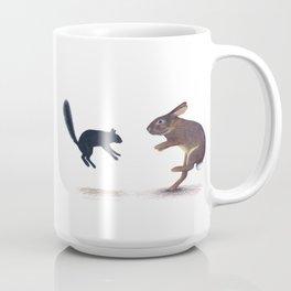 Squirrel & Rabbit Encounter Coffee Mug