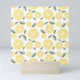 Fresh Fruit Slice of Lemon Pattern Mini Art Print