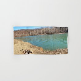 Home of Ancient Hunter-Gatherers --- The Illinois River, No. 7 Hand & Bath Towel