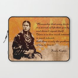 FRIDA KAHLO - the mistress of ARTs - quote Laptop Sleeve