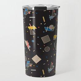 Memphis Inspired Pattern 10 Travel Mug