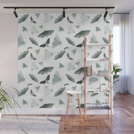 Watercolor Moths Wall Mural