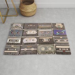 Cassette Tape Wall Retro Decor Tapes Rug
