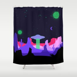 Hello ufo Shower Curtain