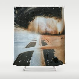 Extreme weather in Dubai by GEN Z Shower Curtain