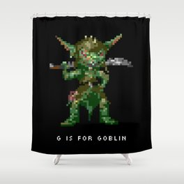 G is for Goblin Shower Curtain