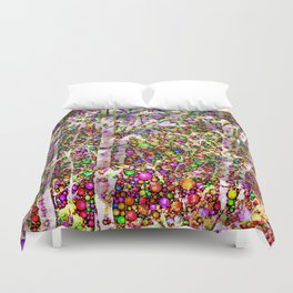 Frosty Christmas Branches Duvet Cover
