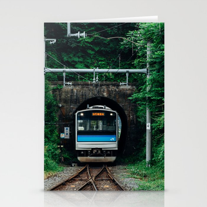 Tunnel Train Stationery Cards