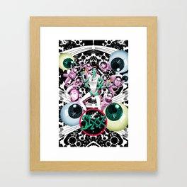 SIXX: Supersonic (Black) Framed Art Print
