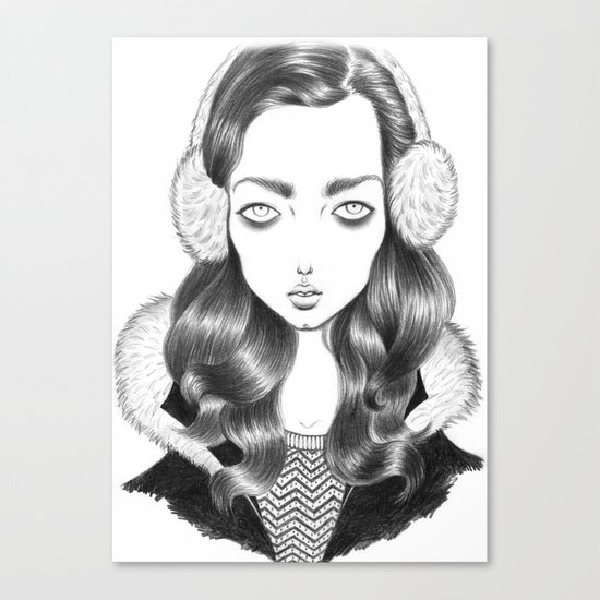 Girl portrait Canvas Print