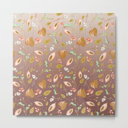 Graceful Flower Fall Metal Print