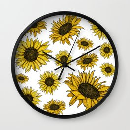 The Sunflowers Wall Clock