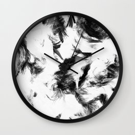 Feather Fall Wall Clock