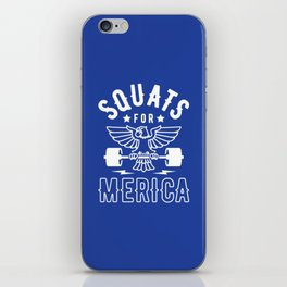 Squats For Merica iPhone Skin