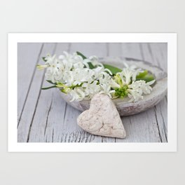 Still Life With White Spring Flowers Art Print