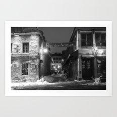 Rue des Artistes Art Print