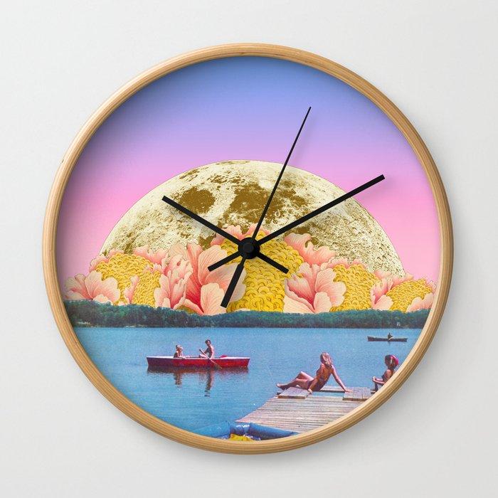 Pink lake Wall Clock