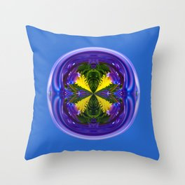 Dandy Four Abstract Globe Throw Pillow