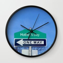 Mother's Day funny design with signpost Wall Clock