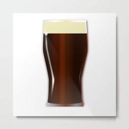 Pint Beer Glass Metal Print