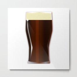 Pint Beer Glass Metal Print