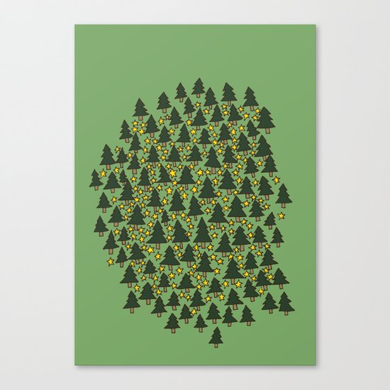 Minty Forest Canvas Print