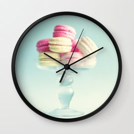 Macarons, macaroons, pop art II Wall Clock