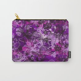 Wahine Lace Hawaiian Orchid Print Carry-All Pouch