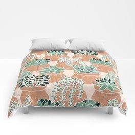Succulent's Tiny Pots Comforters