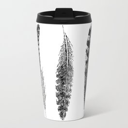 Feather Trio | Black and White Travel Mug
