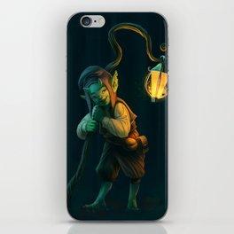 Lantern Goblin (#Drawlloween2016 Series) iPhone Skin