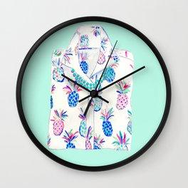 Pineapple Shirt Wall Clock