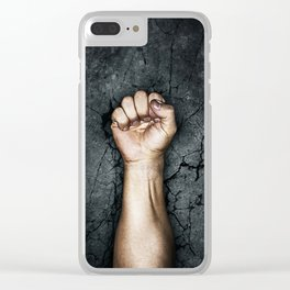 Protest fist Clear iPhone Case