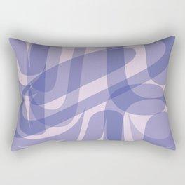 Abstract Formline Purple Rectangular Pillow