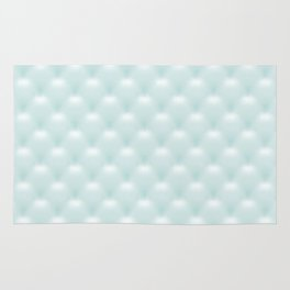Quilted Soft Aqua Design Rug