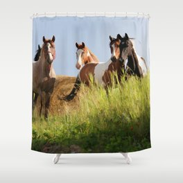 The Wild Bunch-Horses Shower Curtain