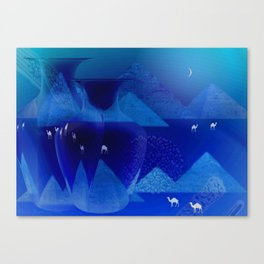 The Sounds Of The Desert At Night Canvas Print