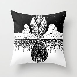Duality: Angel/Devil Throw Pillow