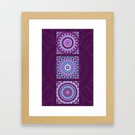 Mandala Collage violett Framed Art Print