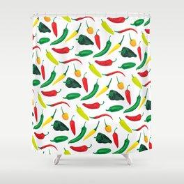 Chili Pepper Pattern Shower Curtain