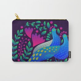 Peacock Love by SCD Balaji Carry-All Pouch