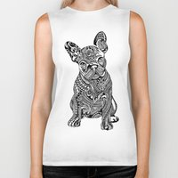 huebucket Biker Tanks featuring Polynesian  Frenchie by Huebucket