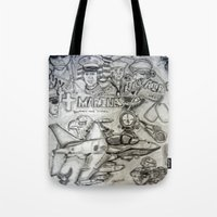 military Tote Bags featuring Military by Amanda McCrory