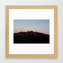 Sierra Estrella Sunset Framed Art Print