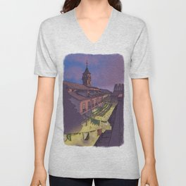 Medieval Fair (color) Unisex V-Neck