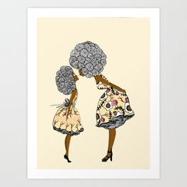 Give mommy a Kiss Art Print